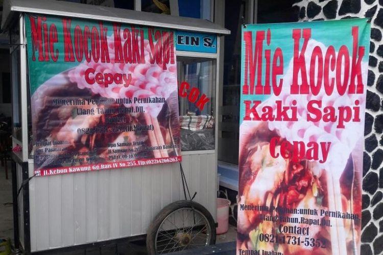 Mie Kocok Cepay, salah satu mie legendaris Kota Bandung. Sudah eksis sejak tahun 1979.