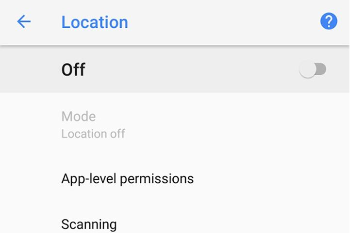 Setting Location Services di smartphone Android