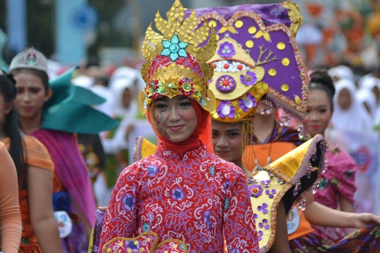 Karnaval batik besurek 2017 Bengkulu