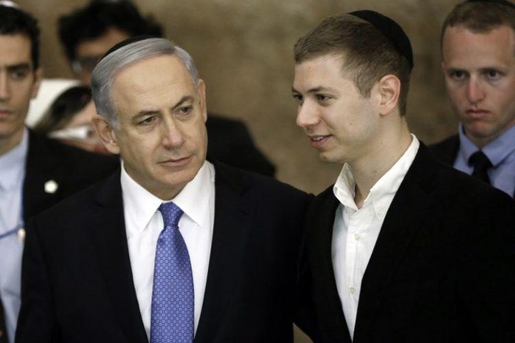 PM Israel Benyamin Netanyahu dan putranya, Yair.