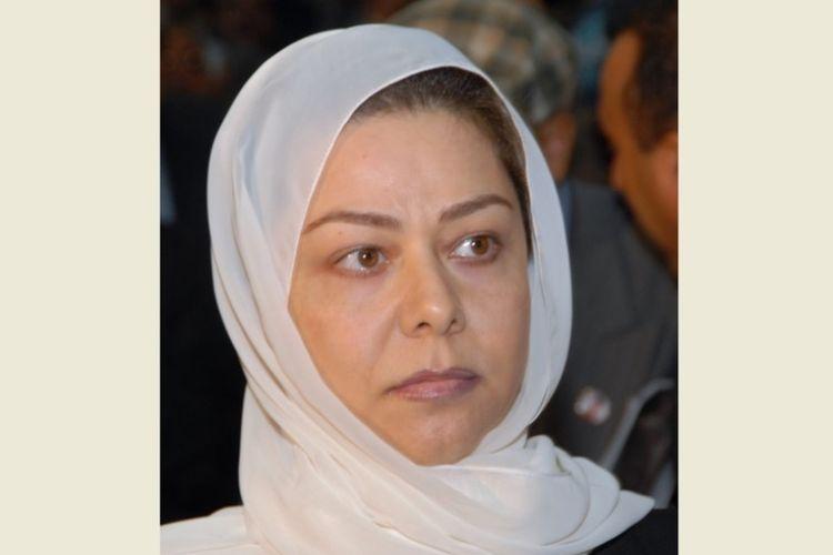 Raghad, putri mantan presiden Saddam Hussein. (AFP/Khaled Fazaa)