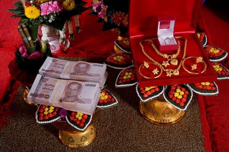 Ilustrasi maskawin yang ada di Thailand.