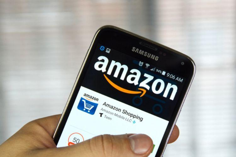 Aplikasi belanja Amazon Shopping di Android.