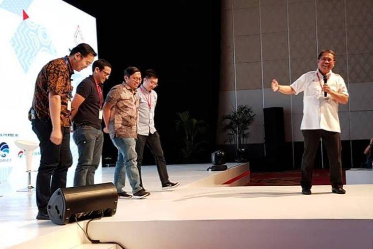 Menkominfo Rudiantara di acara Nexticorn di Bali, Rabu (9/5/2018).