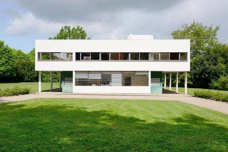 Villa Savoye milik Le Corbusier berdesain radikal pada waktu baru dibangun.