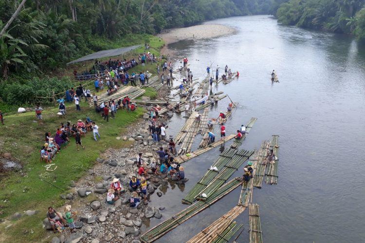 Fesrival rally rakit di Kabupaten Bengkulu Selatan