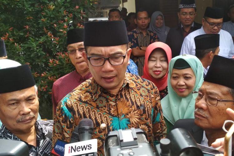 Gubernur Jabar Ridwan Kamil saat ditemui di Kantor MUI Jabar, Jalan RE Martadinata, Jumat (14/9/2018).