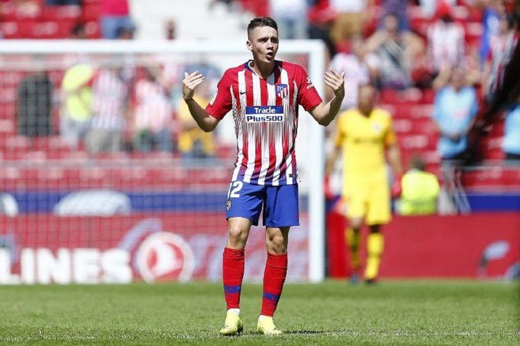 Borja Garces menjadi penyelamat Atletico Madrid pada pertandingan La Liga Spanyol kontra Eibar di Stadion Wanda Metropolitano, 15 September.