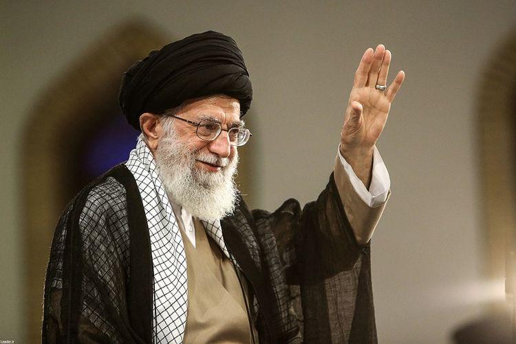 Pemimpin tertinggi Iran, Ayatollah Ali Khamenei.