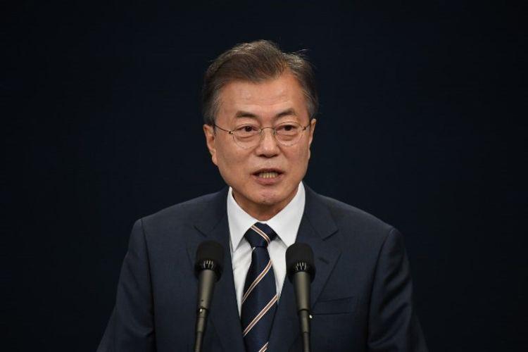 Presiden Korea Selatan Moon Jae-in. (AFP/Jung Yeon-je)