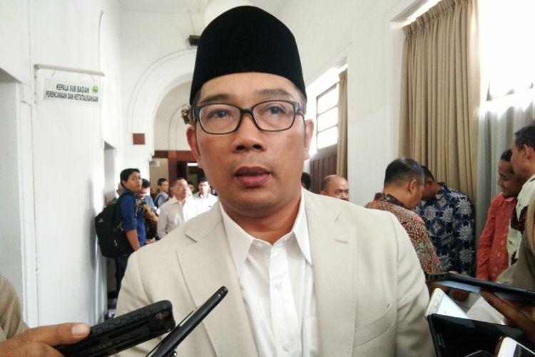 Gubernur Jabar Ridwan Kamil saat ditemui di Gedung Sate, Jalan Diponegoro, Kamis (4/10/2018).