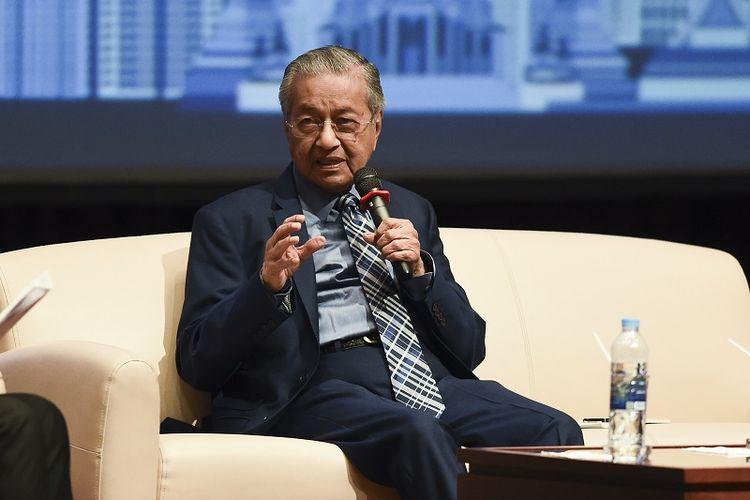 PM Malaysia Mahathir Mohamad  saat berdiskusi di Universitas Chulalongkorn, Bangkok, Kamis (25/10/2018).