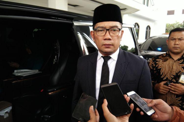 Gubernur Jawa Barat Ridwan Kamil saat ditemui di Gedung DPRD Jabar, Jalan Diponegoro, Jumat (9/11/2018).