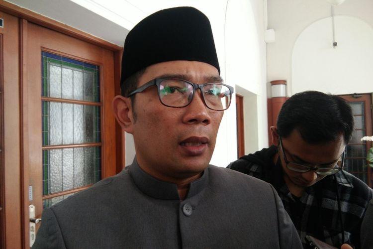 Gubernur Jawa Barat Ridwan Kamil saat ditemui di Gedung Sate, Jalan Diponegoro, Jumat (7/12/2018).