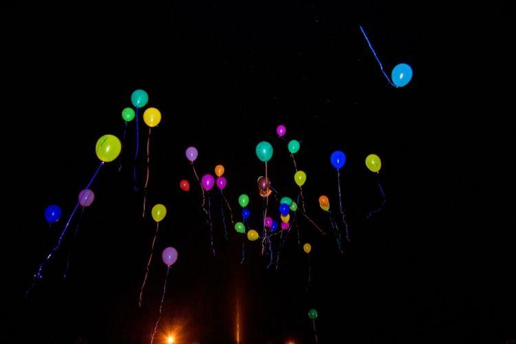 Ilustrasi balon. (Shutterstock)