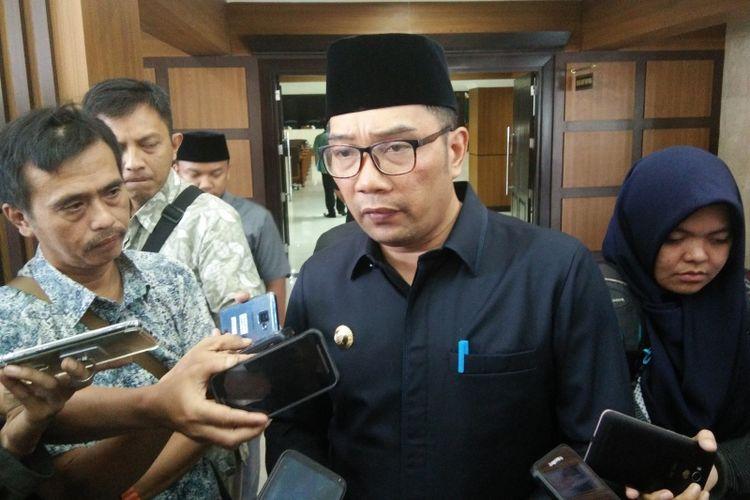 Gubernur Jawa Barat Ridwan Kamil saat ditemui di Gedung DPRD Jabar, Jalan Diponegoro, Jumat (4/1/2019).