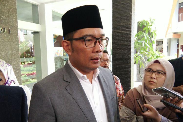 Gubernur Jawa Barat Ridwan Kamil saat ditemui di Bandung, Kamis (3/1/2019).