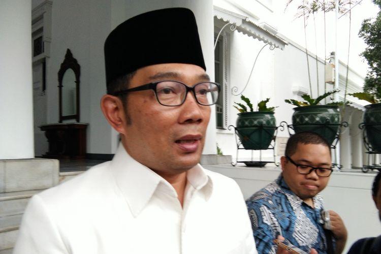 Gubernur Jawa Barat Ridwan Kamil saat ditemui di Gedung Pakuan, Jalan Cicendo, Kamis (10/1/2019).