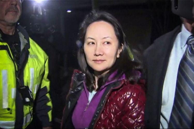Chief Financial Officer (CFO) Huawei Meng Wanzhou setelah sidang jaminan di Pengadilan Tinggi British Columbia di Vancouver, British Columbia, Kanada, pada 11 Desember 2018. (AFP/CTV)