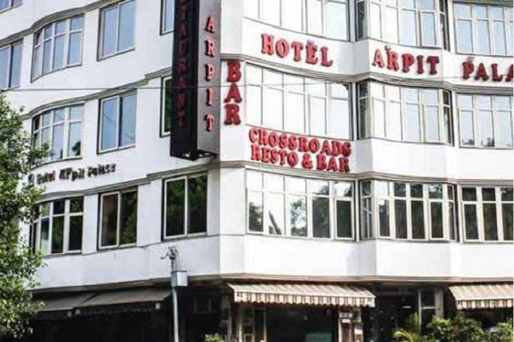 Hotel Arpit Palace, New Delhi yang terbakar pada Selasa (12/2/2019).