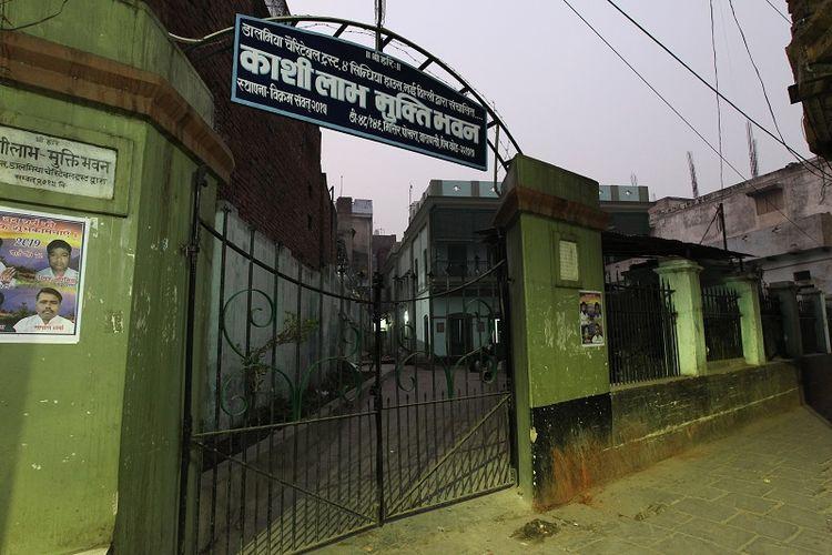 Ini adalah pintu masuk hotel Mukti Bhawan di kota Varanasi, India yang menjadi tujuan mereka yang akan meninggal dunia.