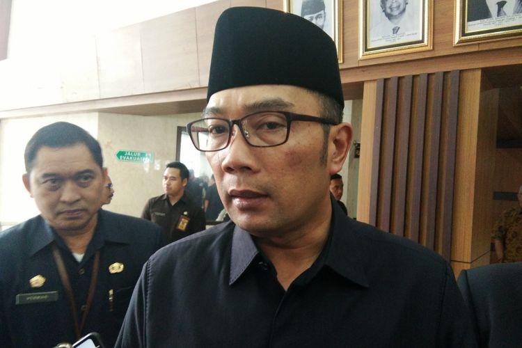 Gubernur Jawa Barat Ridwan Kamil saat ditemui di Gedung DPRD Jabar, Jalan Diponegoro, Rabu (22/5/2019).