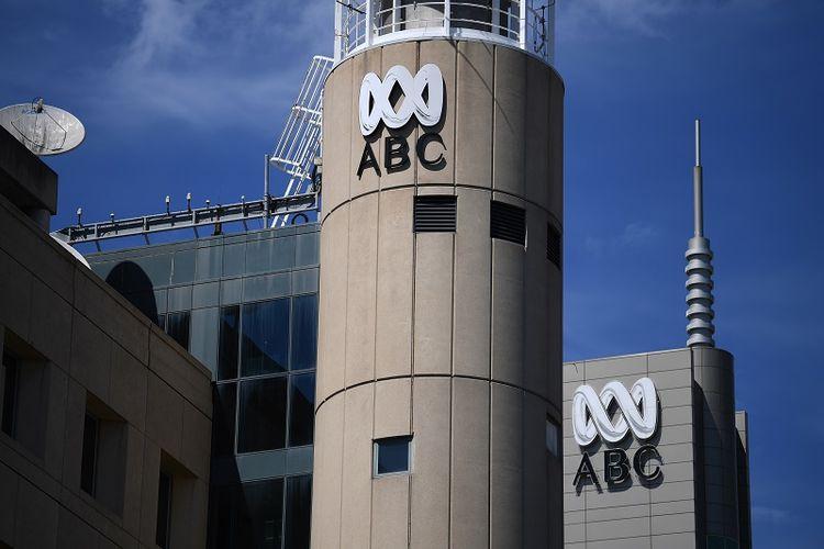 Markas pusat lembaga penyiaran publik Australia ABC terlihat di Sydney. (SAEED KHAN/AFP)