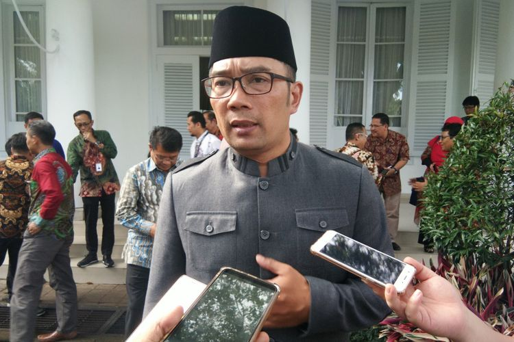 Gubernur Jawa Barat Ridwan Kamil saat ditemui di Gedung Pakuan, Jalan Cicendo, Kamis (13/6/2019).