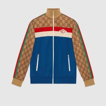 GG technical jersey jacket dari Gucci