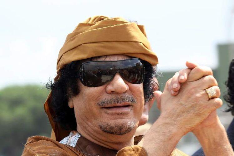Pemimpin Libya, Muammar Gaddafi, yang digulingkan pada Agustus 2011 dan tewas dibunuh dua bulan kemudian.