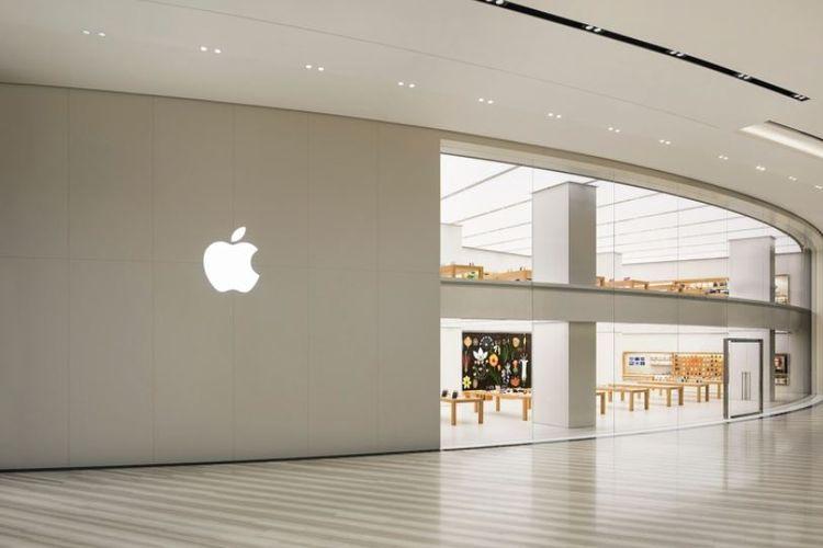 Ilustrasi Apple Store di Jewel Changi Airport, Singapura