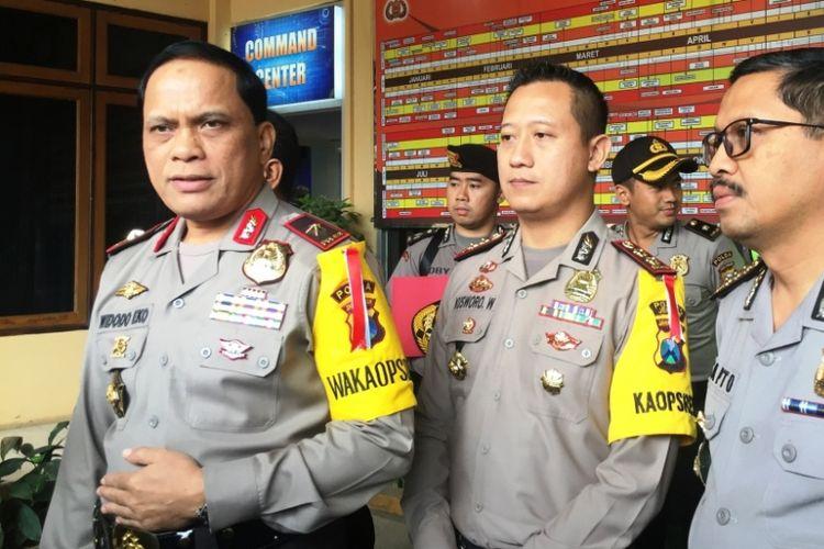 Wakapolda Jawa Timur Brigjen Pol Widodo Eko Prihastopo saat Jumpa Pers di Mapolres Jember, Rabu (26/6/2018).