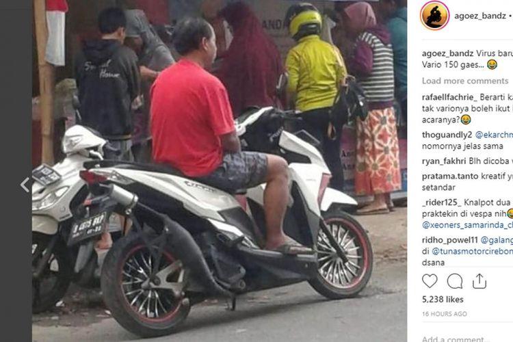 Viral Foto Motor 4-tak Pakai Knalpot 2-tak, Sang Pemilik Tak Tahu Akibatnya Bakal Begini