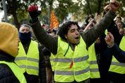 Pakai Rompi Kuning, Sopir Taksi Spanyol Protes Transportasi 'Online'