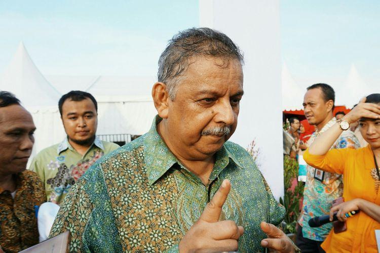 Direktur Utama PT Perusahaan Listrik Negara (PLN) (Persero)  Sofyan Basir saat peresmian proyek pembangkit listrik di Serang, Banten, Kamis (5/10/2017).