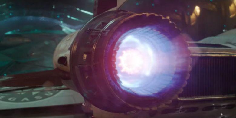 Cuplikan gambar dari trailer film Captain Marvel.