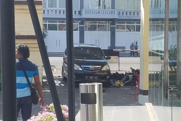 Bom meledak di Polrestabes Surabaya, Jawa Timur, Senin (14/5/2018) pagi.