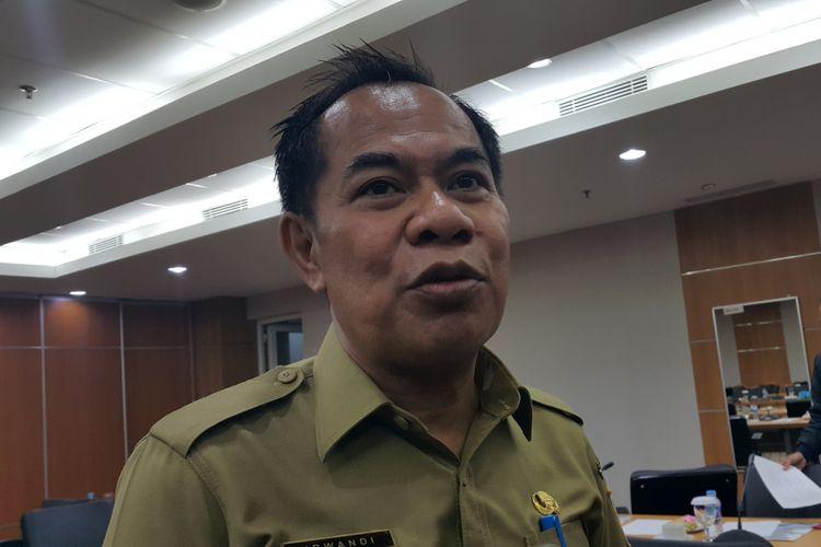 Kepala Dinas Koperasi, UMKM, dan Perdagangan DKI Jakarta Irwandi  di Gedung DPRD DKI Jakarta, Jalan Kebon Sirih, Selasa (12/9/2017).