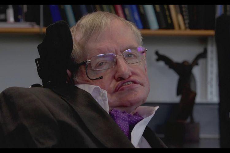 Stephen Hawking dalam video wawancara GMIC 2017
