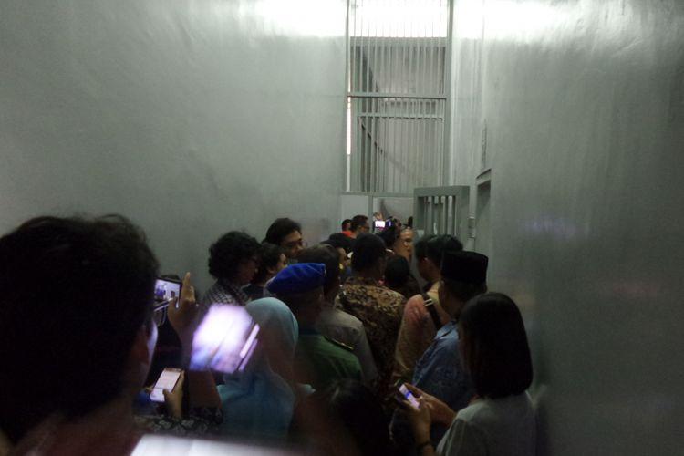 Koridor Rumah Tahanan Gedung KPK Jakarta, Jumat (6/10/2017).