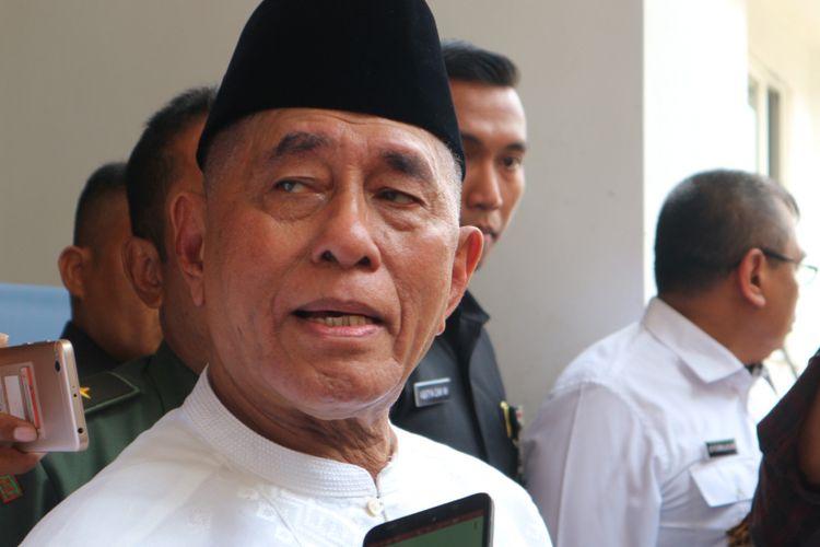 Menteri Pertahanan RI, Ryamizard Ryacudu ketika ditemui di Pondok Pesantren Al-Hikam, Depok, Jawa Barat, Selasa (31/10/2017).