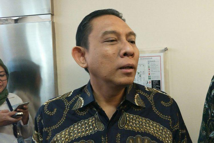 Direktur Keuangan dan Investasi Badan Penyelenggara Jaminan Sosial (BPJS) Kesehatan, Kemal Imam Santoso di Kantor Pusat BPJS Kesehatan, Cempaka Putih, Jakarta, Senin (18/12/2017).