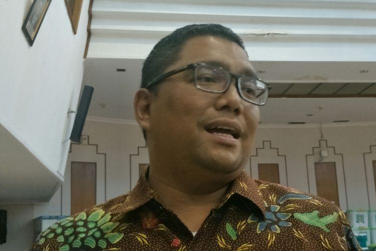 Anggota Bawaslu RI Fritz Edward Siregar, ketika ditemui di kantor KPU RI, Jakarta, Minggu (24/12/2017).