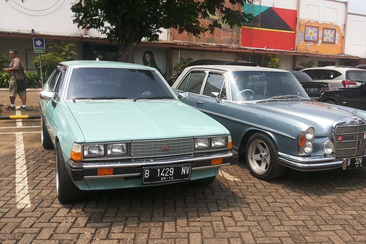 Salah satu Mitsubishi Gallant yang tampak di acara Perhimpunan Penggemar Mobil Kuno Indonesia (PPMKI) DKI Jakarta di kawasan Pondok Indah, Jakarta Selatan, Minggu (4/3/2018).