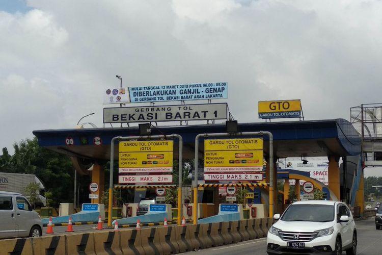 Ganjil genal di Pintu Tol Bekasi Barat siap diterapkan 12 Maret 2018, Bekasi (8/3/2018)
