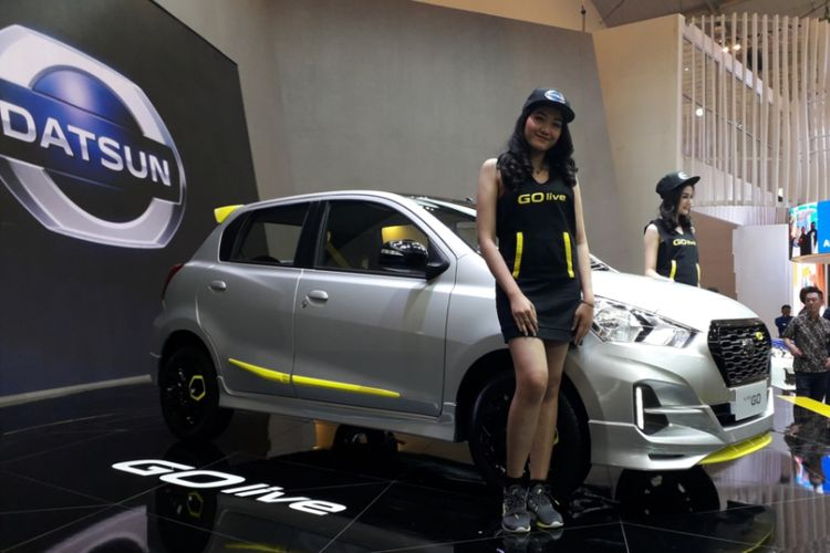 Datsun GO-Live Special Version yang diluncurkan pada gelaran Gaikindo Indonesia International Auto Show (GIIAS) 2018 di ICE, BSD City, Tangerang, Kamis (2/8/2018).