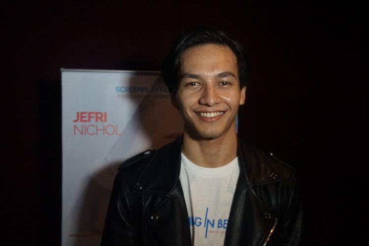 Aktor muda Jefri Nichol saat ditemui dalam promosi film Something in Between di kawasan Blok M, Jakarta Selatan, Kamis (27/9/2018).