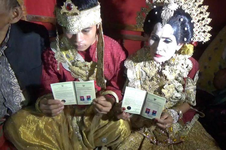 Meriah, Pernikahan Terpaut Usia 45 Tahun di Sidrap