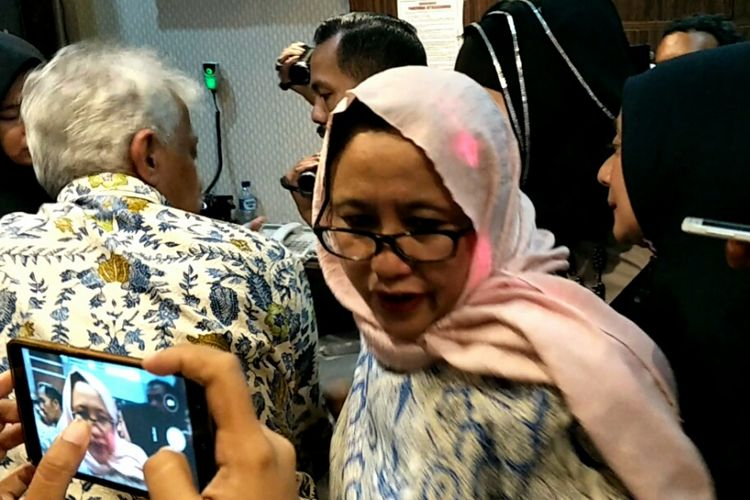 Wakil Ketua Tim Badan Pemenangan Nasional Prabowo-Sandiaga, Nanik S Deyang pun tiba di Mapolda Metro Jaya, Jumat (26/10/2018).