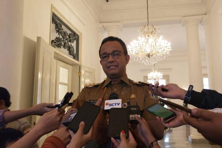 Gubernur DKI Jakarta Anies Baswedan di Balai Kota DKI Jakarta, Jalan Medan Merdeka Selatan, Selasa (12/2/2019).